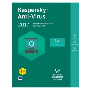 KASPERSKY ANTI-VIRUS 2017 2 USER 1 YEAR
