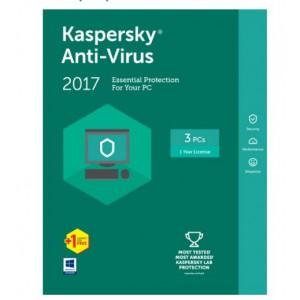 KASPERSKY ANTI-VIRUS 2017 4 USER 1 YEAR