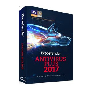 Bitdefender Antivirus Plus 2017 DVD 4 User 1 Year (DVD)