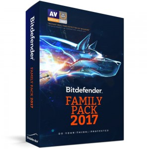 Bitdefender Family pack 2017 DVD Unlimited Devices 1 Year (DVD)
