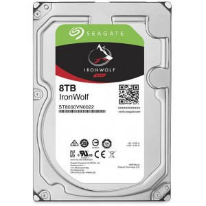 SEAGATE IRONWOLF 8TB 3.5- 7200RPM SATA 6GB/s 256MB CACHE