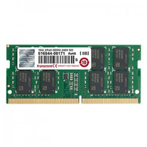 TRANSCEND 16GB DDR4-2400 NOTEBOOK SO-DIMM 2RX8
