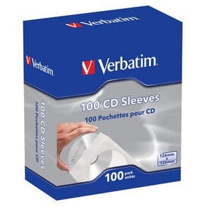 Verbatim - CD SLEEVES (PACK OF 100)