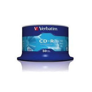Verbatim - 700MB - CD-R (52X) - EXTRA PROTECTION SPINDLE - (PACK OF 50)