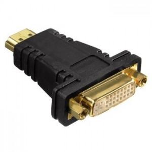 Hama 34036 Black HDMI  Plug DVI-D Socket Compact  Adapter