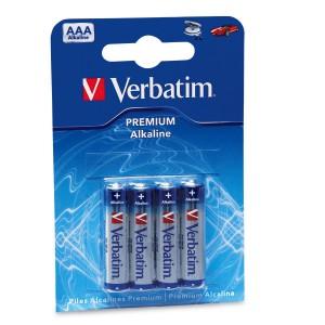VERBATIM - AAA ALKALINE BATTERIES (4 BATTERIES PER PACK)