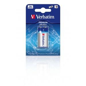 VERBATIM - 9V ALKALINE BATTERIES (1 BATTERIES PER PACK)