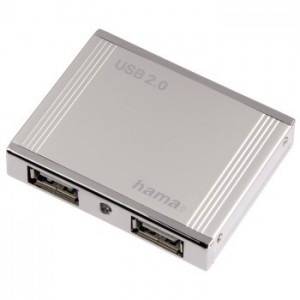 HAMA - USB HUB 2.0 - 4 PORT BUS POWERED BLISTER