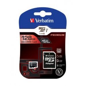 VERBATIM - 128GB MICRO SDXC UHS-I PLUS ADAPTOR