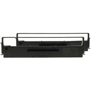 Epson C13S015613BA Black 7753 2 Pack Ribbon