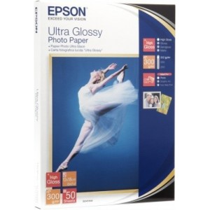 EPSON - MEDIA - (4X6) OR (10 X 15CM) - (20 SHEETS) - ULTRA GLOSSY PAPER - 300G/M²