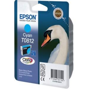 EPSON - INK - T0812 - CYAN - SWAN - STYLUS T50 / T59 / TX700FW / TX800FW / STYLUS PHOTO 1410 / R270 / R290 / R295 / R390 / R610 / R615 / R690 / RX590 / RX610 / RX690