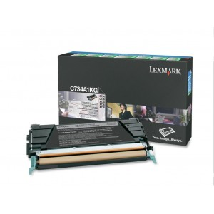 LEXMARK C734 / C736 / X734 / X736 / X738 Black Return Programme Toner Cartridge - 8 000 pgs