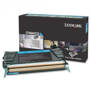 LEXMARK C746 / C748 Cyan Return Program Toner Cartridge - 7 000 pgs