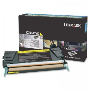 LEXMARK C746 / C748 Yellow Return Program Toner Cartridge - 7 000 pgs