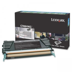 LEXMARK C746 / C748 Black High Yield Return Program Toner Cartridge - 12 000 pgs