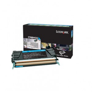 LEXMARK C748 Cyan High Yield Return Program Toner Cartridge - 10 000 pgs