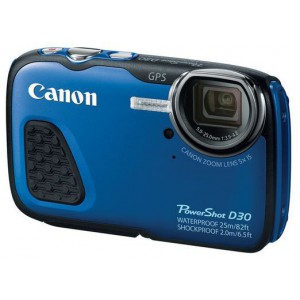 Canon Powershot D30 Waterproof - Blue - Compact design model