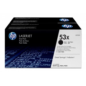 HP # 53X LASERJET Q7553X BLACK PRINT CARTRIDGE - DUAL PACK