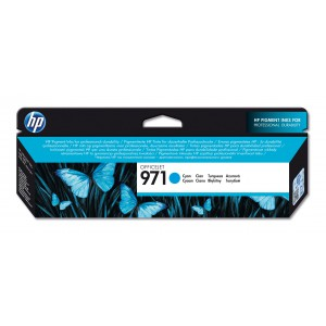 HP # 971 CYAN OFFICEJET INK CARTRIDGE - STANDARD CAPACITY