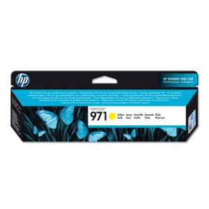 HP # 971 YELLOW OFFICEJET INK CARTRIDGE - STANDARD CAPACITY
