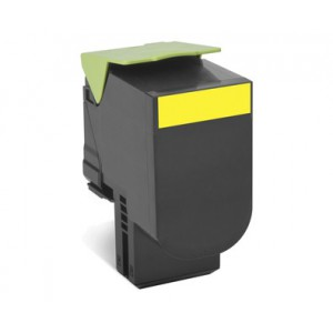 LEXMARK 808SY CX310n / CX310dn / CX410e / CX410de / CX410dte / CX510de / CX510dhe / CX510dthe Yellow Return Program Toner Cartridge - 2000 pgs