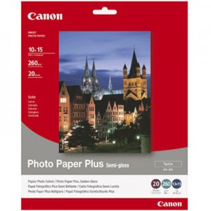CANON - INKJET PHOTO - PAPER SG-201 4X 6 (1 BOX OF 50 SHEETS SEMI-GLOSS)