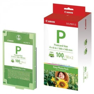 CANON - INK & PAPER SET POSTCARD SIZE FOR 100 PRINTS )