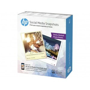 HP W2G60A Social Media Snapshots - Soft Gloss Removable Self-Adhesive Photo paper - 25 sheet(s)