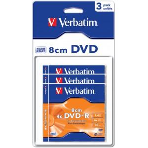 VERBATIM - 1.46GB DVD-R (4X) - 8CM BLISTER (BOX OF 3) - WSL
