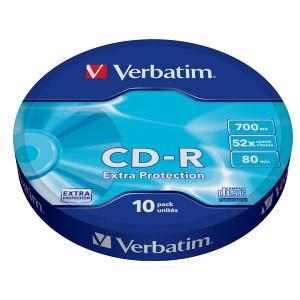 Verbatim - CD-R 700MB (52X) EXTRA PROTECTION WAGON WHEEL (10 PACK)