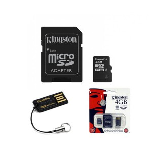 4GB Multi Kit (Class 4 microSD + SD adapter + USB reader) Android