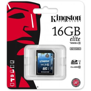 Kingston Technology 16GB Class 10 UHS-I Elite