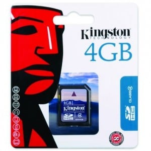 Kingston 4GB SDHC Card Class 4