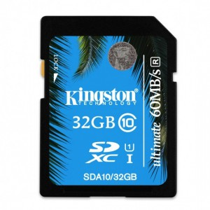 32GB SDHC Class 10 UHS-I 90MB/s read 45MB/s write Flash Card