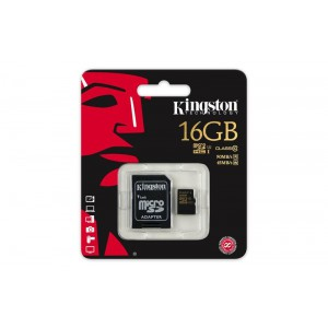 16GB microSDHC Class 10 UHS-I 90MB/s read 45MB/s write + SD Adapter