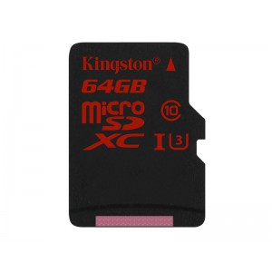 64GB microSDXC UHS-I Class U3 90MB/s read 80MB/s write + SD Adapter