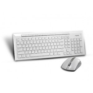 RAPOO 8200P 5G WLS MOUSE AND KB SET WHITE