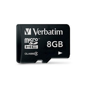 VERBATIM - 8GB MICRO SD CARD CLASS 4