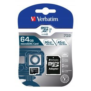 VERBATIM - 64GB SDXC PRO UHS-I PLUS ADAPTOR