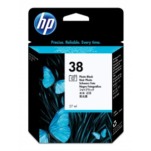 HP # 38 PHOTO BLACK PIGMENT INK CARTRIDGE WITH VIVERA INK