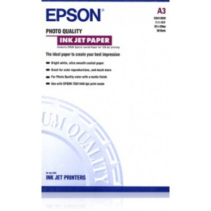 EPSON - MEDIA - (A3) - (100 SHEETS) - PHOTO QUALITY - 105G/M²