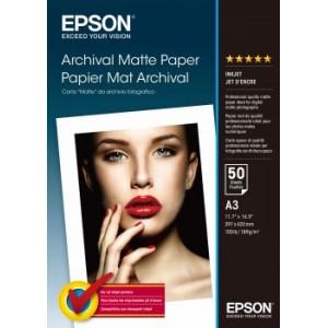 EPSON - MEDIA - (A3) - (50 SHEETS) - ARCHIVAL MATTE PAPER - 192G/M²