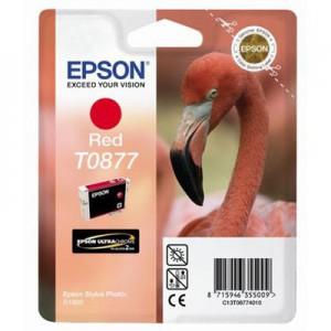 EPSON - INK - T0877 - RED - FLAMINGO - STYLUS PHOTO R1900