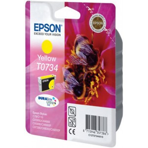 EPSON - INK - T0734 - YELLOW - BEES - STYLUS C79 / 110 / CX3900 / 4900 / 5900 / 6900F / 7300 / 8300 / 9300F - (REPLACED C13T07344A10)