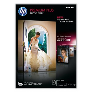 HP PREMIUM PLUS GLOSSY PHOTO PAPER 300 G/M -20 SHT/A4/210 X 297 MM