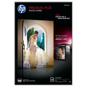 HP PREMIUM PLUS GLOSSY PHOTO PAPER 300 G/M-20 SHT/A3/297 X 420 MM - REPLACES THE Q5496A