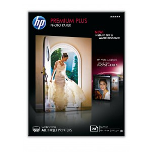 HP PREMIUM PLUS GLOSSY PHOTO PAPER 300 G/M-20 SHT/13 X 18 CM