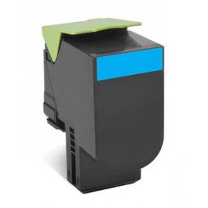 LEXMARK 808HC CX410e / CX410de / CX410dte / CX510de / CX510dhe / CX510dthe Cyan High Yield Return Program Toner Cartridge - 3000 pgs