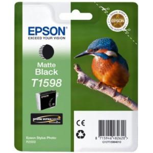 EPSON - INK - T1598 - MATTE BLACK - KINGFISHER - SP R2000